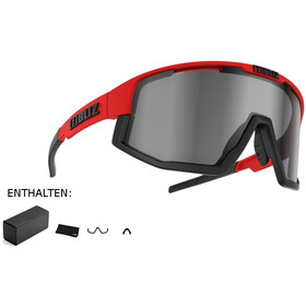 Bliz Fusion M12 Gafas, shiny red/smoke with silver mirror
